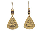 The Sak Metal Triangle Drop Earrings