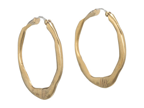 The Sak Small Century Metal Hoop Earrings - Gold