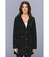 DKNY - Hooded Soft Shell Coat w/Grosgrain Trim