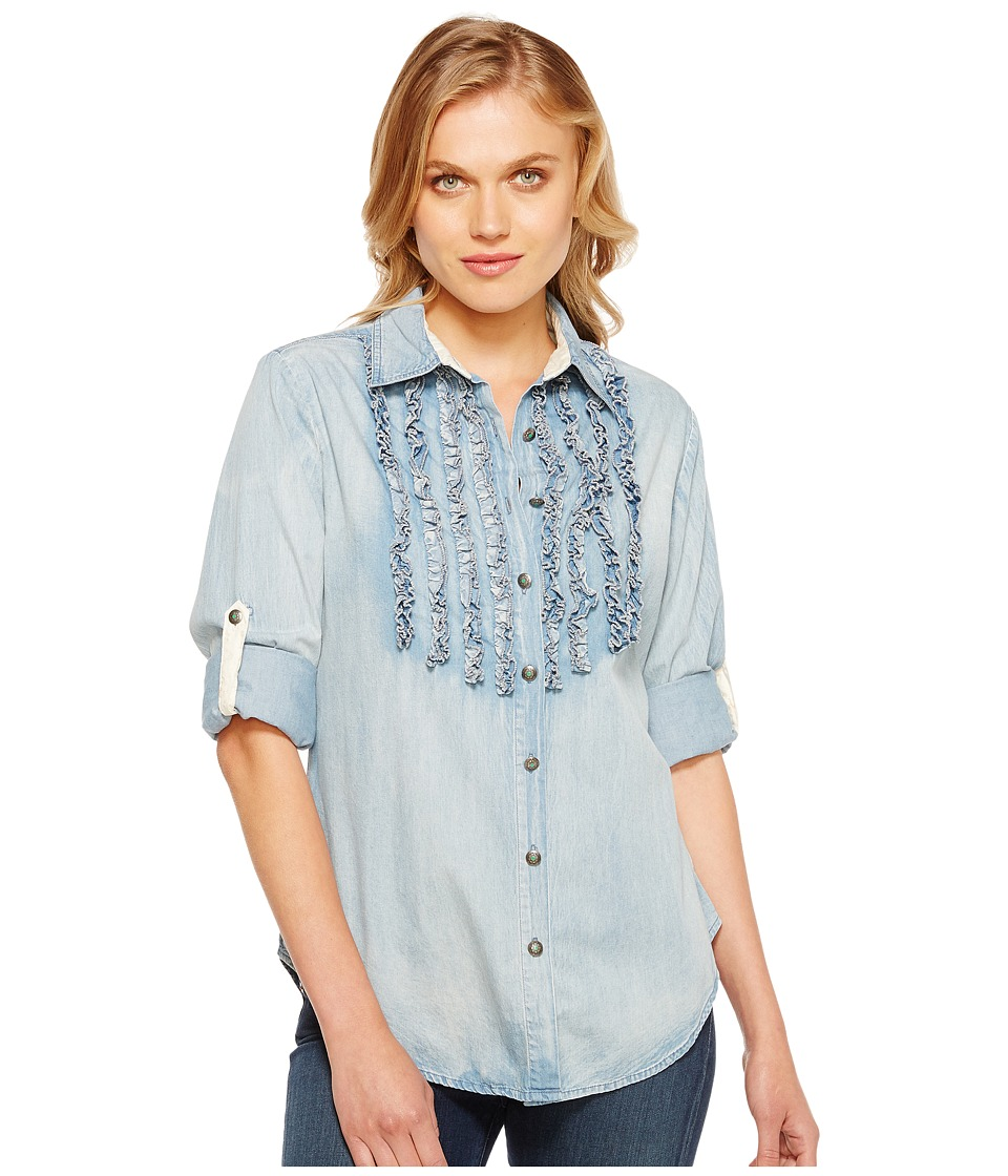 Tasha Polizzi - Settler Shirt (Blue) Womens Long Sleeve Button Up