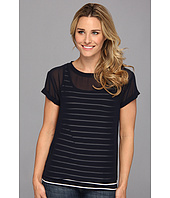 NYDJ - Striped Veiled Layers Tee