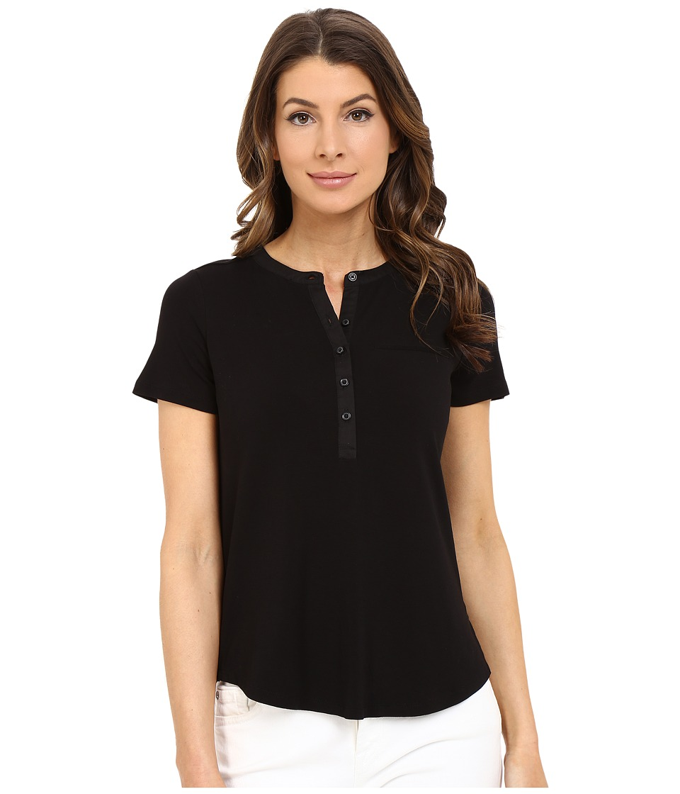 NYDJ - Pleat Back Knit Top (Black) Women