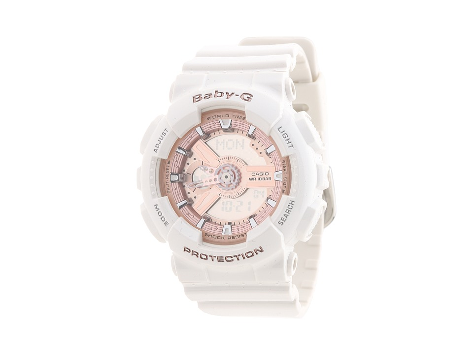 G Shock Baby G BA110 White/Pink Watches