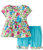 le top - Butterfly Wishes Tiered Top And Banded Shorts (Infant/Toddler/Little Kids)