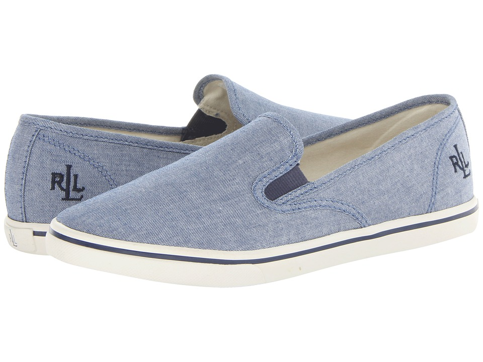 LAUREN Ralph Lauren Janis (Blue Chambray) Slip-On Shoes