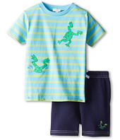 le top - Hip-Hop! Stripe Shirt and Short - Diving Froggy (Infant/Toddler)