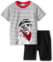le top - Arf, Matey! Pirate Dog Stripe Shirt w/ French Terry Shorts (Infant/Toddler)