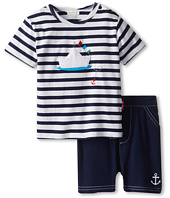 le top - Happy Sails Stripe Shirt and Navy Short - Paper Boat (Infant/Toddler)