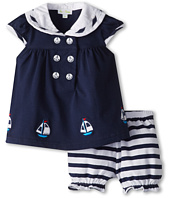le top - Happy Sails Sailor Dress and Stripe Panty - Sailboats (Newborn/Infant)