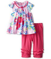 le top - Lexi's Garden Pleated Top and Dot Capri Legging (Infant/Toddler/Little Kids)
