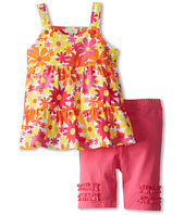le top - Awesome Blossom Tiered Suntop and Bike Short (Toddler/Little Kids)