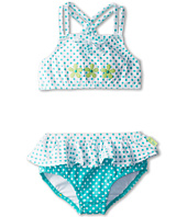 le top - Circle Time Dot Tankini with Ruffle - Flowers (Toddler/Little Kids)