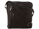 Kenneth Cole Reaction Columbian Leather 2.25 Single Gusset Top Zip Day Bag