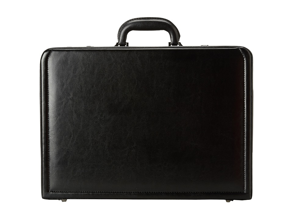 Kenneth Cole Reaction - Manhattan Leather - 4-4.75 Expandable Computer Attache With Removable Computer Sleeve (Black) Luggage