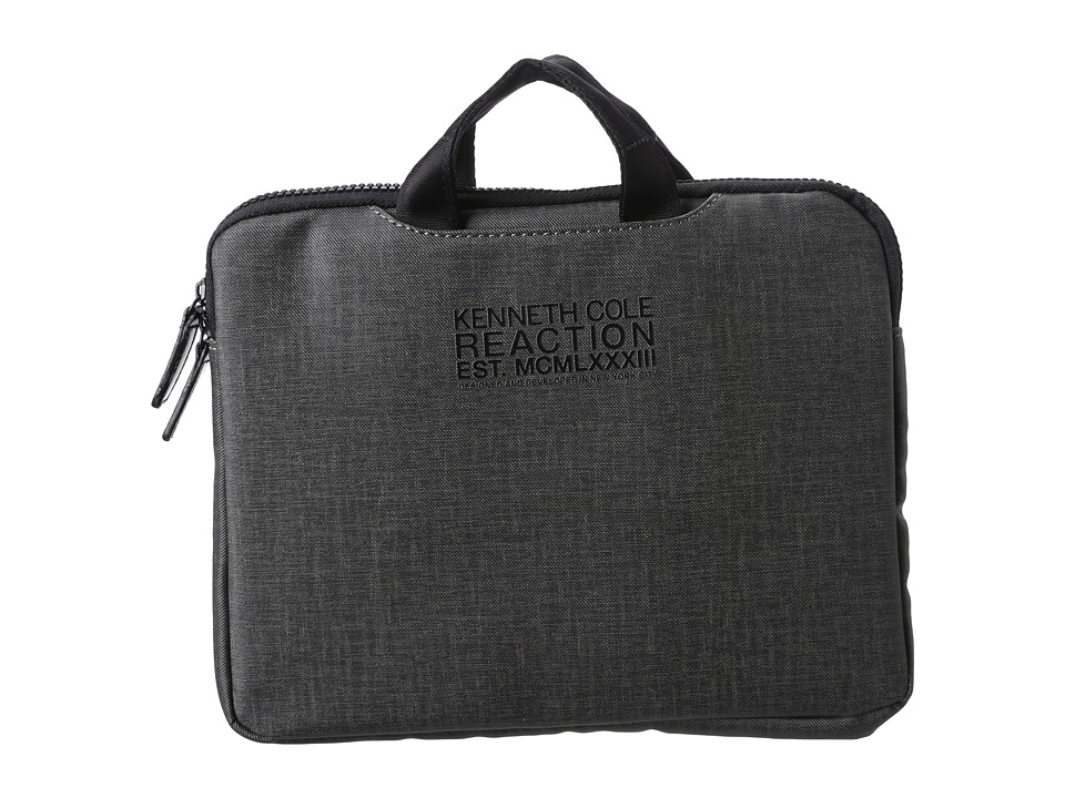 Kenneth Cole Reaction - Slim Single Gusset Top Zip Tablet Case. (Gray) Bags