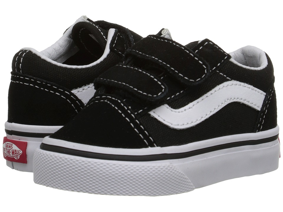 Vans Kids - Old Skool V Core (Toddler) (Black) Kids Shoes