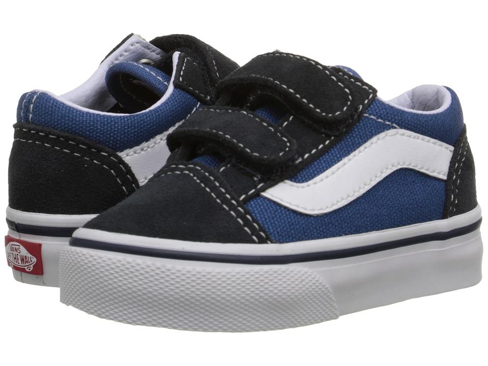 Vans Kids Old Skool V Core (Toddler) (Navy) Kids Shoes