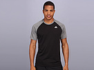 adidas - Ultimate Raglan Short-Sleeve Tee (Black/Dark Grey Heather/)