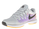 Nike - Zoom Vapor 9.5 Tour (Light Base Grey/Urban Lilac/Atomic Mango/Dark Base Grey)