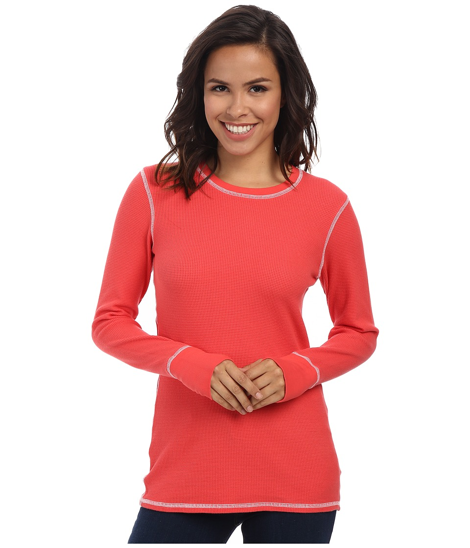 Allen Allen L/S Thumbhole Tee Thermal Crew Begonia Womens Long Sleeve Pullover