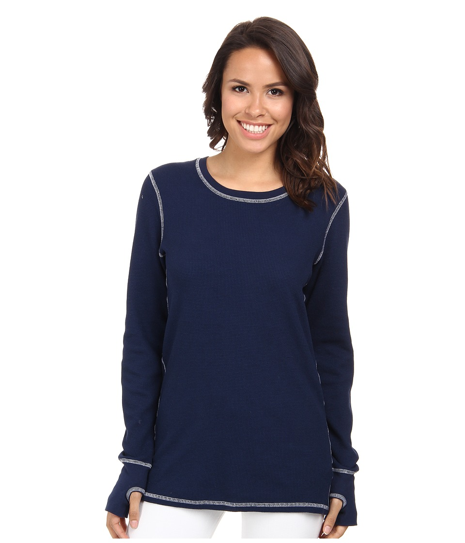 Allen Allen L/S Thumbhole Tee Thermal Crew Lapis Womens Long Sleeve Pullover