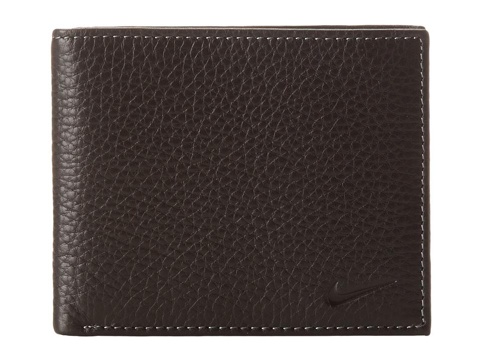 Nike - Pebble Grain Leather Pass Case (Black) Travel Pouch