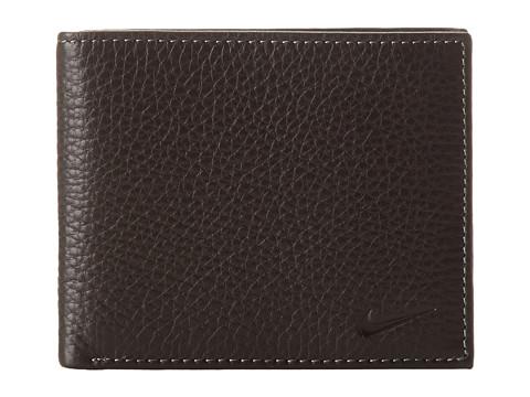 Nike Pebble Grain Leather Pass Case - Black