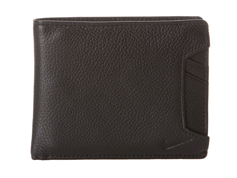 Nike - Pebble Leather Billfold (Black) Travel Pouch