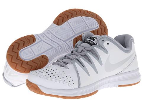Nike Air Vapor Indoor Court (White/Wolf Grey/Gum Medium Brown/Metallic Silver) Women's Shoes