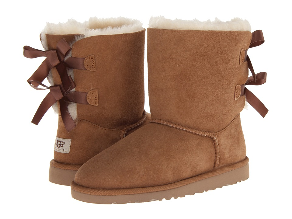 UGG Kids Bailey Bow Big Kid Chestnut Girls Shoes