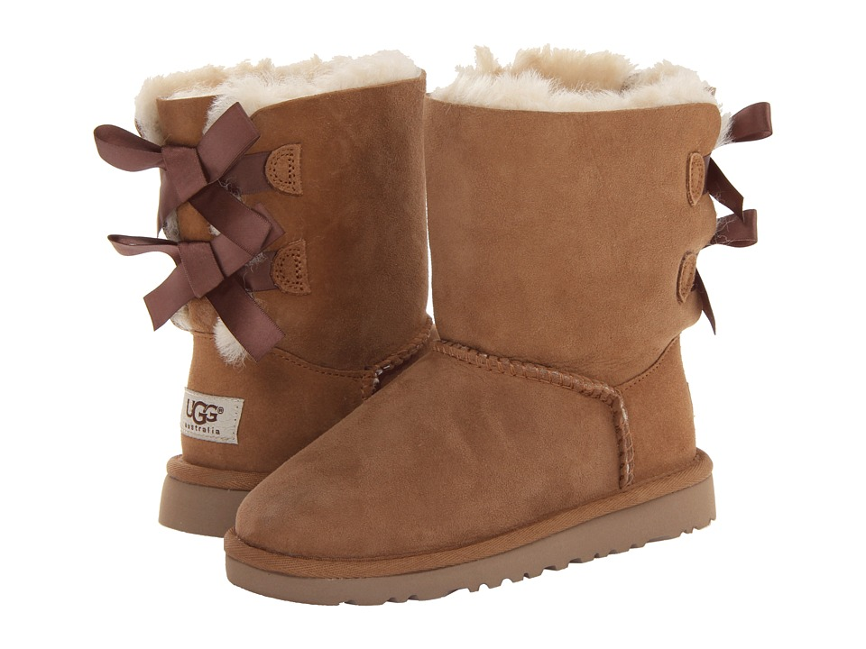 UGG Kids Bailey Bow Little Kid/Big Kid Chestnut Girls Shoes