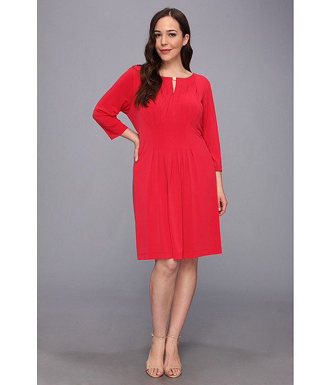 Tahari by ASL Plus - Plus Size Dana Dress (Red) - Apparel