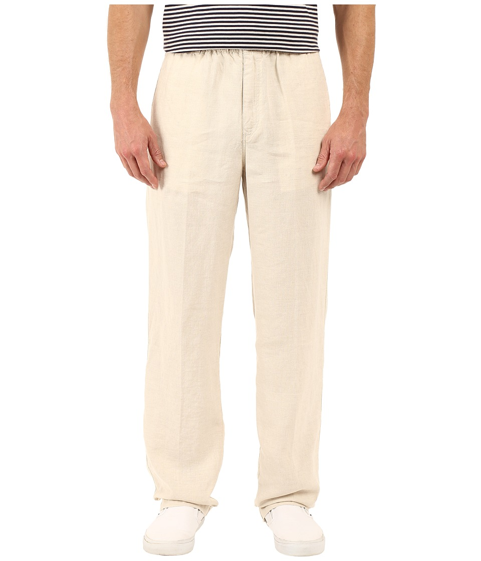 Tommy Bahama - New Linen On The Beach Easy Fit Pant (Natural Linen) Mens Casual Pants