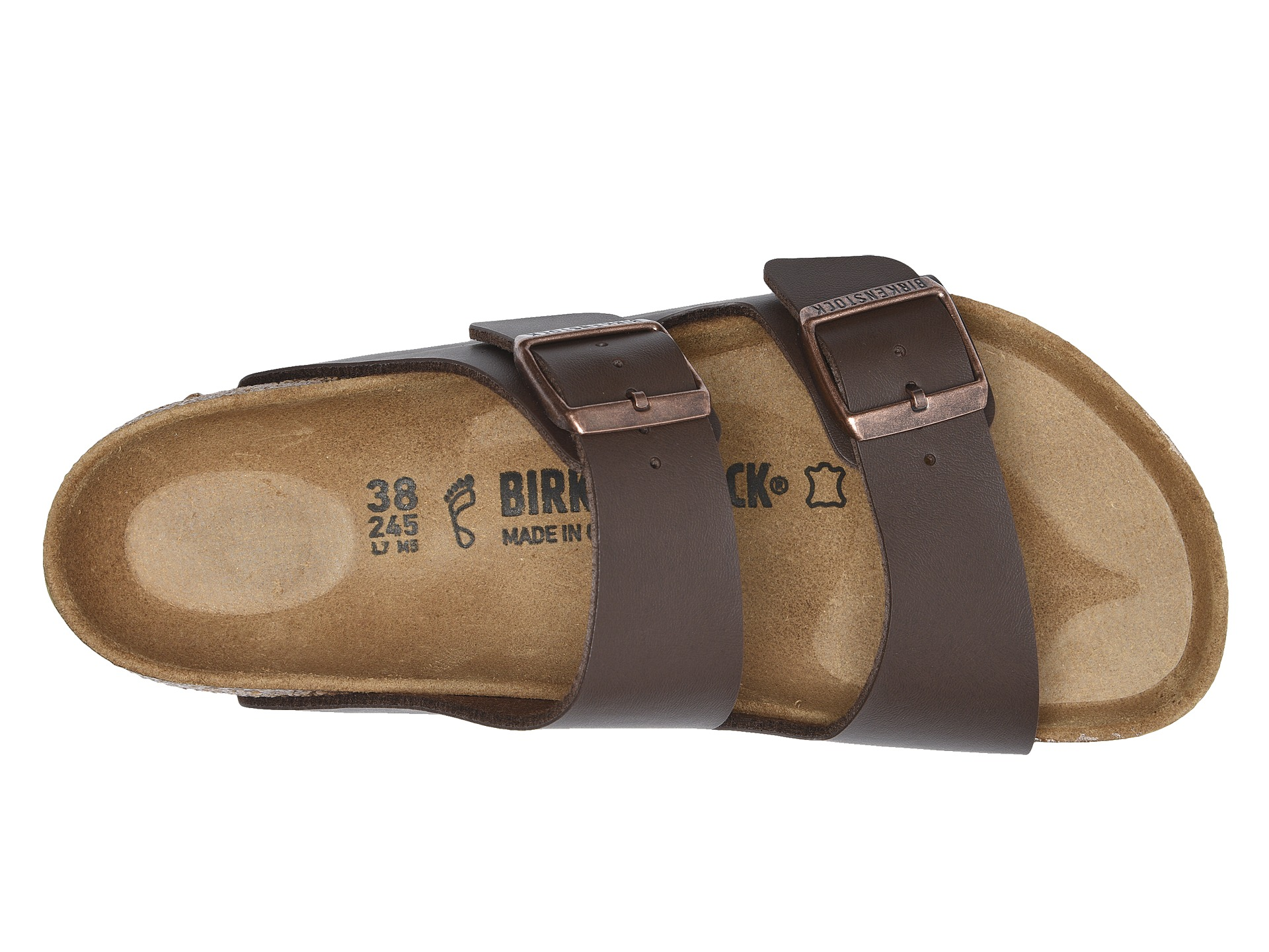 birkenstock arizona dark brown leather