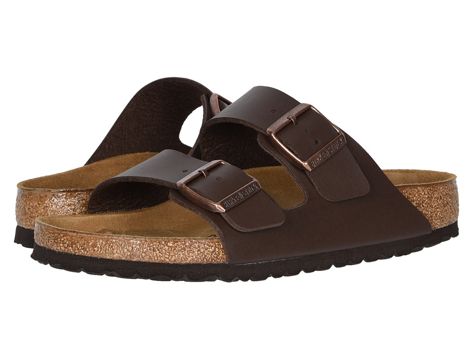 Birkenstock Arizona Birko-Flortm (Brown Birko-Flor) Sandals