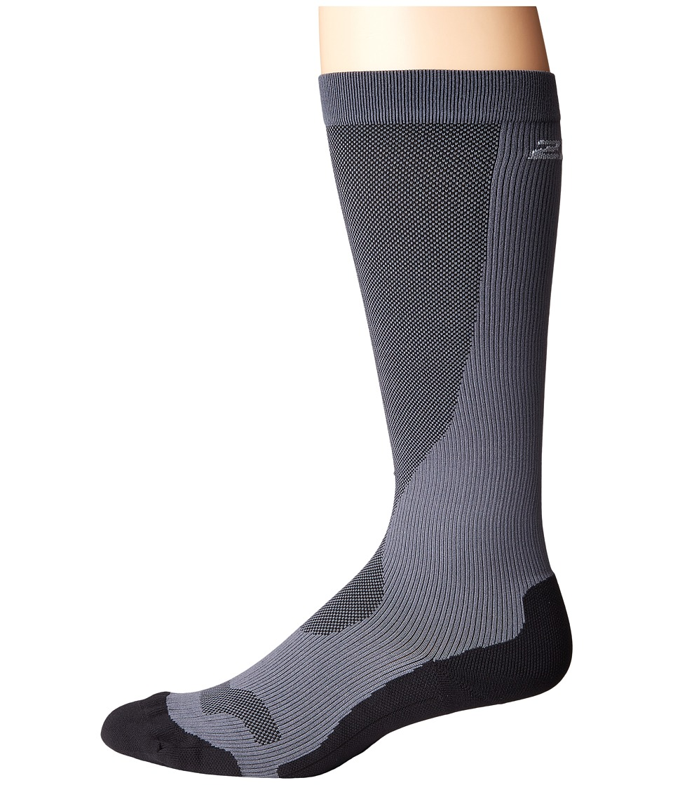 2XU Compression Performance Run Sock Titanium/Black Mens Knee High Socks Shoes