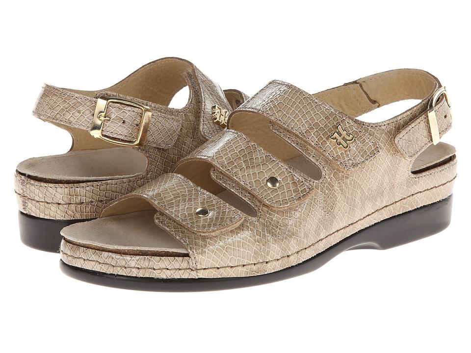 Helle Comfort Tulin Capuchino Cobra Print Womens Sandals
