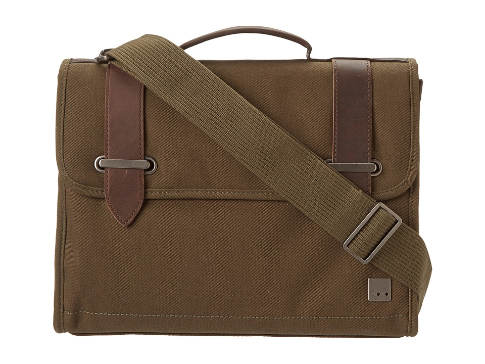 KNOMO London - Padstow Slim Satchel Briefcase (Olive Green) Bags