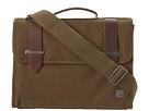 KNOMO London Padstow Slim Satchel Briefcase (Olive Green)