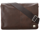 KNOMO London Kinsale Small Messenger Laptop Bag (Brown)
