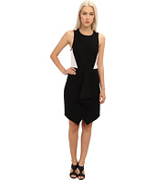 tibi - Ponte Drape Front Sleeveless Dress w /Eyelet Combo