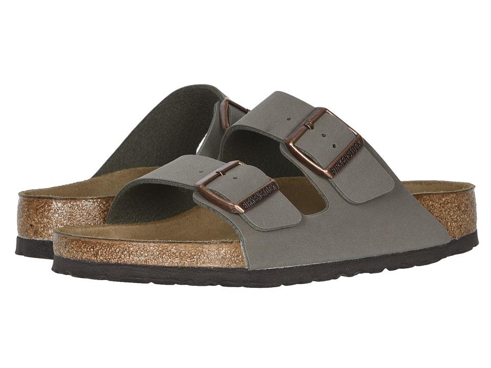 Birkenstock - Arizona - Birkibuc (Unisex) (Stone Birkibuc) Sandals
