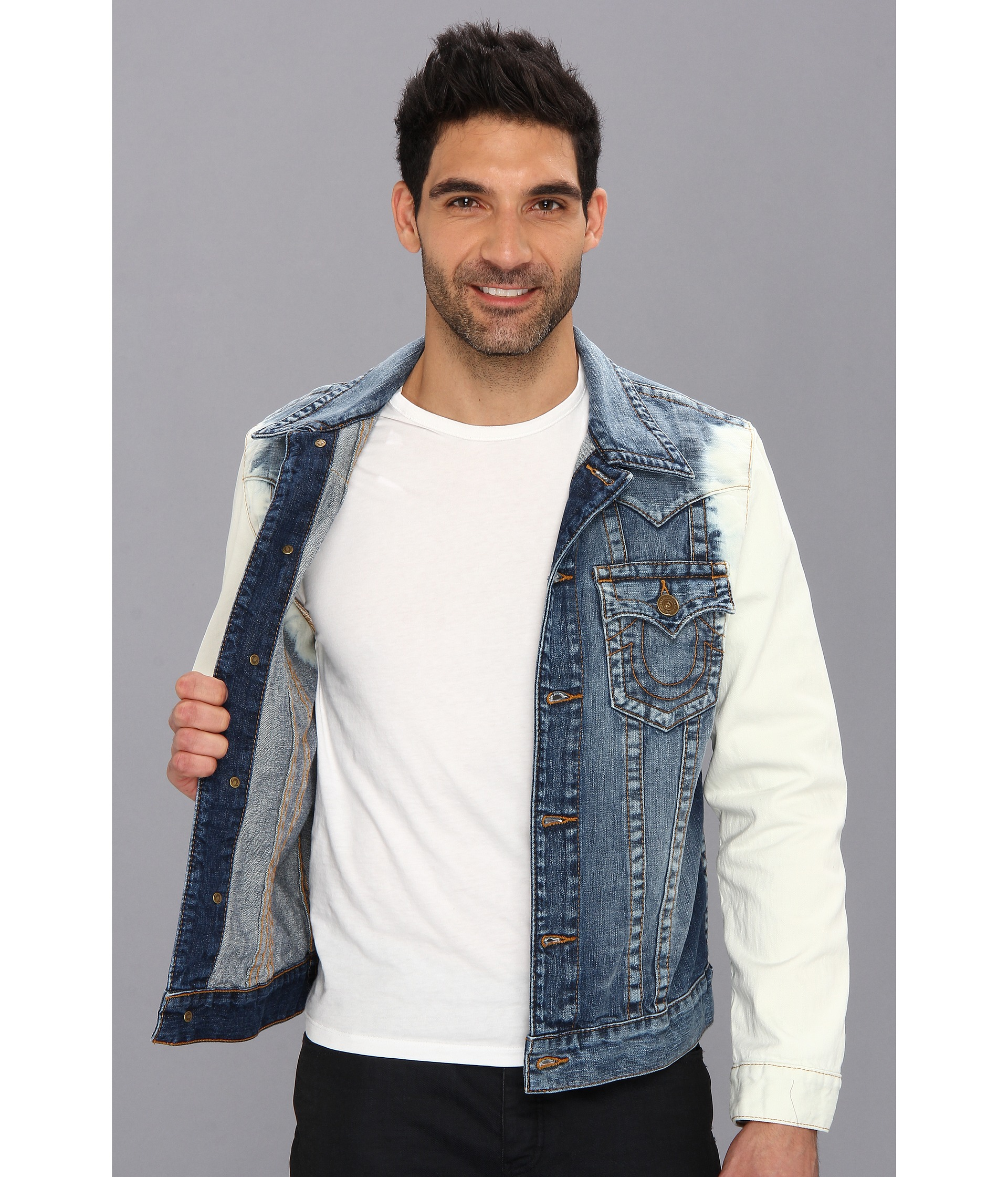True religion jimmy slim fit western jacket in havasu havasu shipped