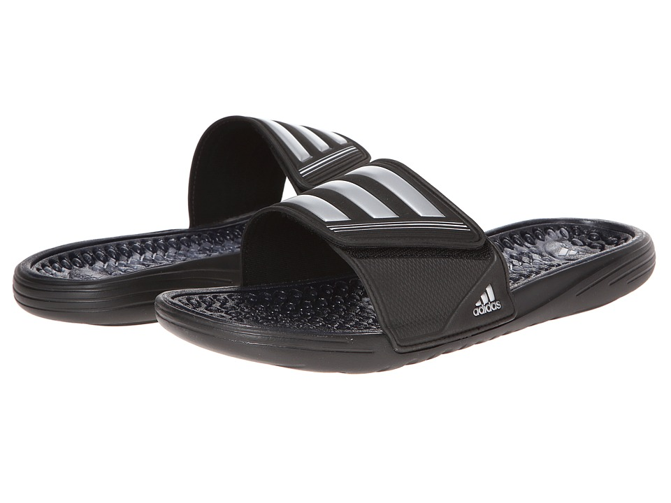 adidas - Retrossage (Black/Metallic Silver/Running White) Men's Slide Shoes
