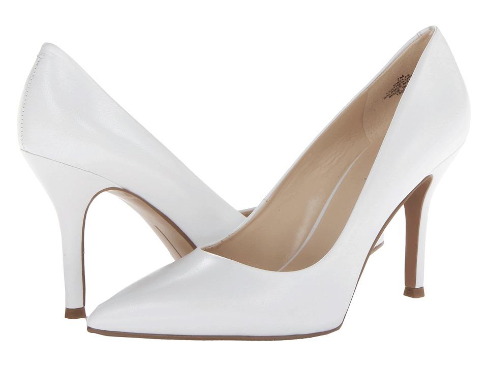 Nine West Flax White/White Leather High Heels