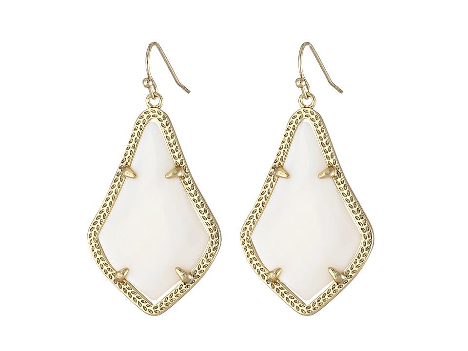Kendra Scott Alex Earring Gold White Mother of Pearl Earring