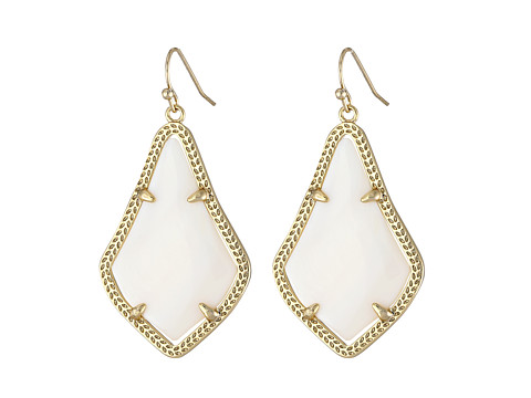 Kendra Scott Alex Earring - Gold White Mother-of-Pearl