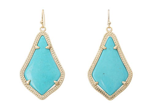 Kendra Scott Alex Earring - Gold Turquoise Magnesite