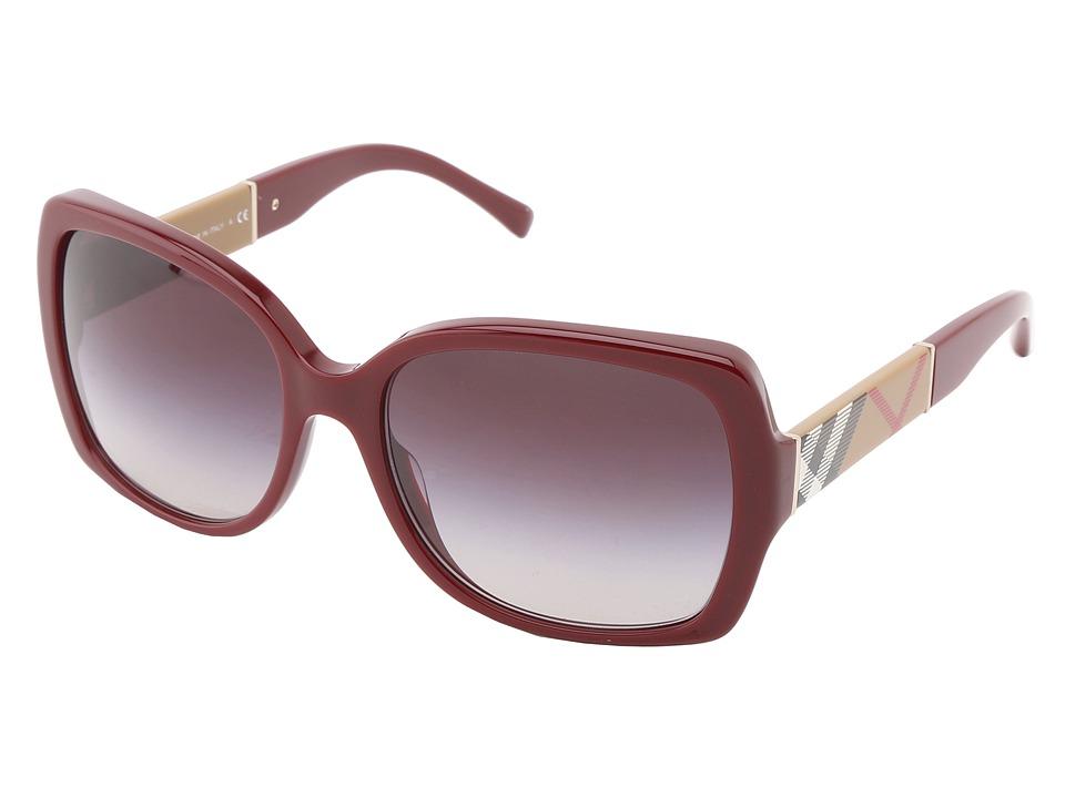 Burberry BE4160 Bordeaux/Grey Gradient Fashion Sunglasses