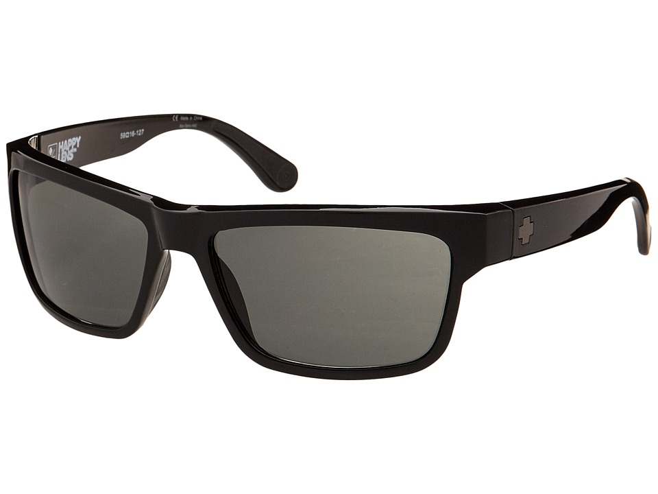 Spy Optic - Frazier (Happy Lens) (Black - Happy Grey Green) Sport Sunglasses